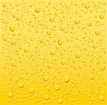 eau jaune gouttes fond Vecteurs