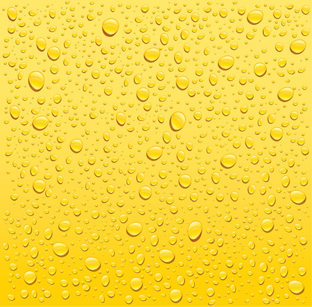 yellow water drops background