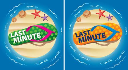 last minute summer holiday Illustration
