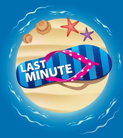 last minute holiday Illustration