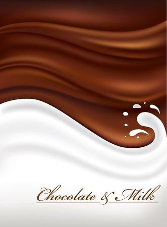 우유와 초콜릿 배경 스톡 콘텐츠 - 56317723