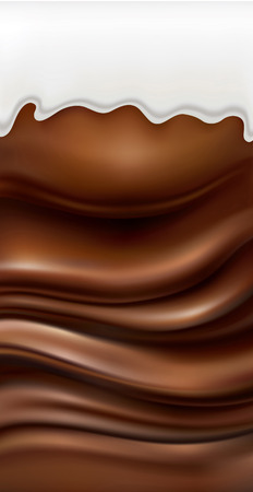 milk and chocolate background Illustration