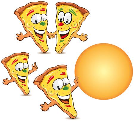 the rascal: funny pizza cartoon illustrations