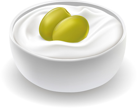 moisturizing: jar of moisturizing face cream with green olive