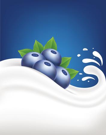 milkman: milk splash with blueberry