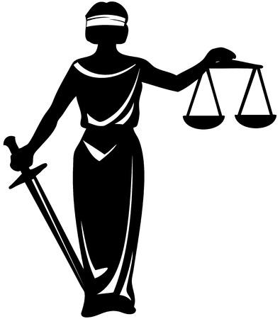 Blind Justice Statue Clip Art