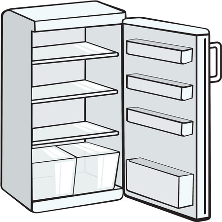frigo vide Vecteurs