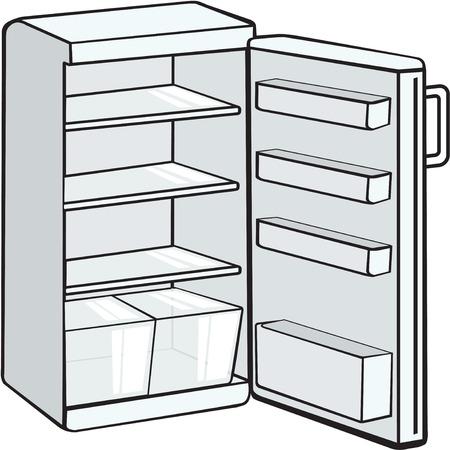 empty  fridge Illustration