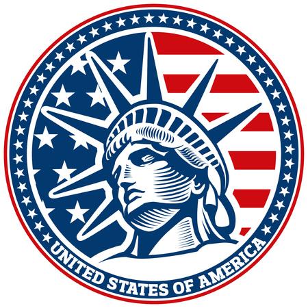 statue of liberty, NYC, USA Illustration