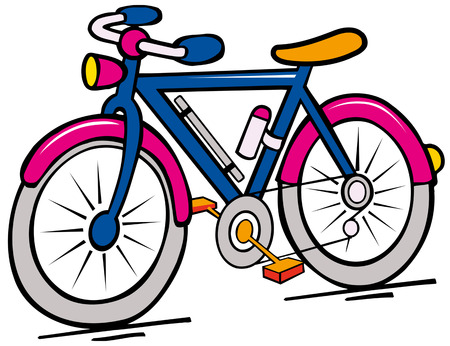 bike cartoon Ilustrace