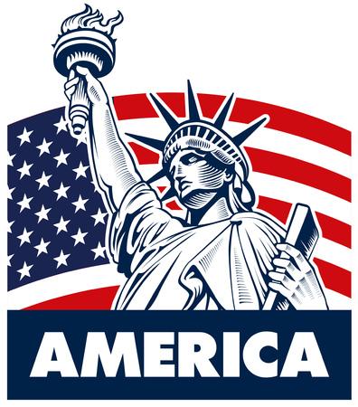 statue de la liberté, New York, USA symbole