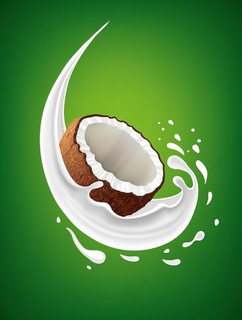 coconut milk splashes