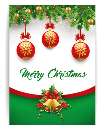 red green: merry christmas background Illustration