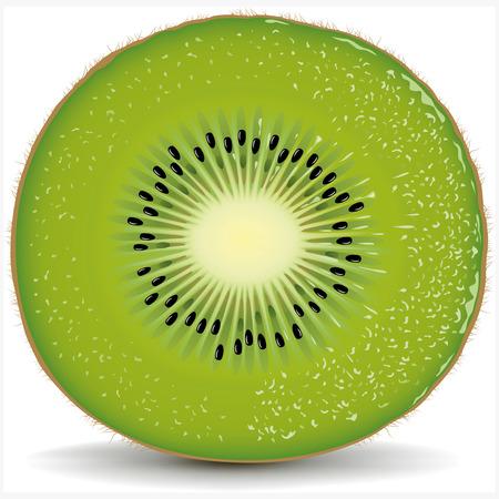 kiwi: fresh kiwi slice