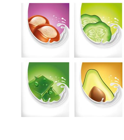 chilled: ,ilk splash with avocado, shea butter, aloe vera, cucumber
