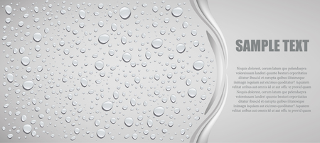 bubble water: water drops on grey background with place for text Illustration