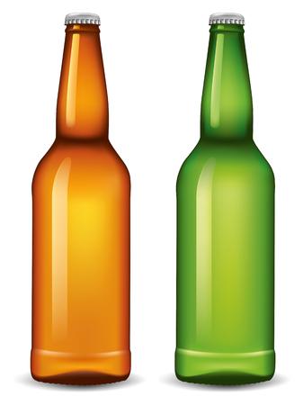 cooled: black empty beer bottle