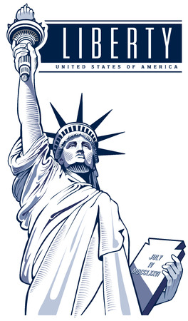 Statue of Liberty, USA, NYC symbool Stock Illustratie