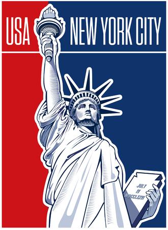 Freiheitsstatue, USA, NYC Symbol Standard-Bild - 69700181