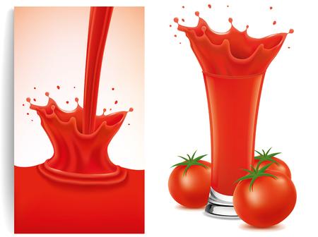 waterdrops: fresh tomato splash Illustration