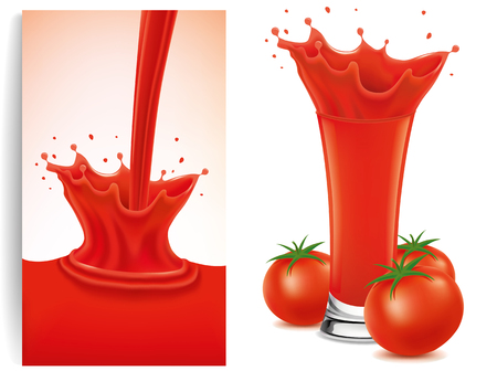 fresh tomato splash Illustration