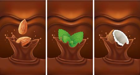chocolate mint: chocolate splash with almond, coconut, mint