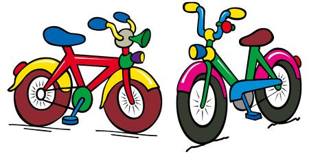 lenticular: group of color kids bike