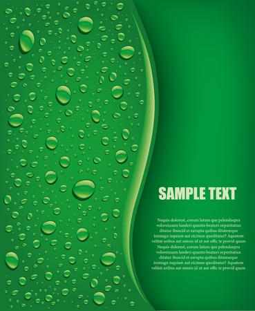 緑の背景を水滴します。
