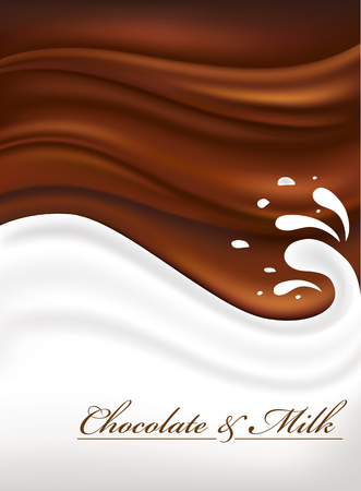 chocolate swirl: chocolate and milk background