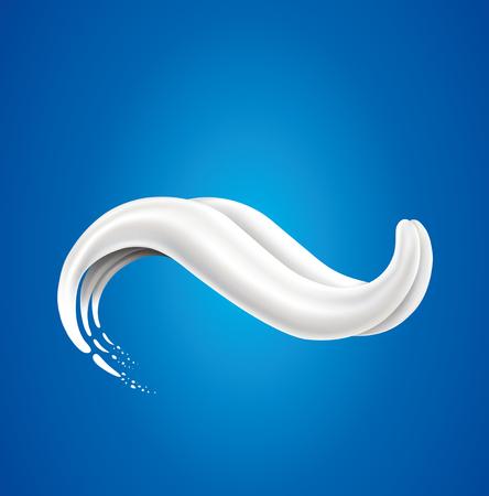 milk splash creating tongue shape Illustration