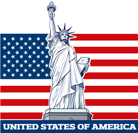 Freiheitsstatue, NYC, USA-Symbol, USA