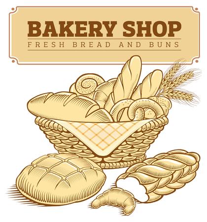 Boulangerie, pain, pain, baguette, blé au panier