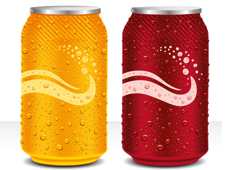 Design template can cola, juice drink