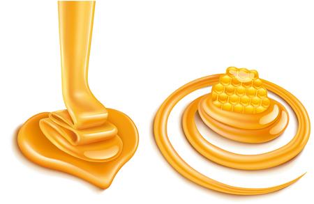 Milch-Wirbel mit Honig-Süßigkeiten