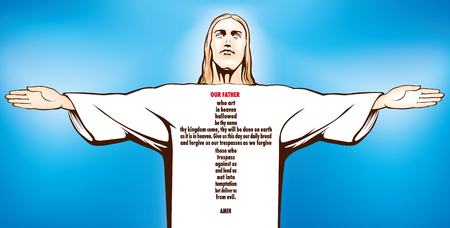 Jesus Christ  prayer Our father