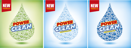 design template laundry detergent package