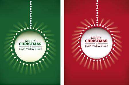 Merry christmas background - shining christmas ball