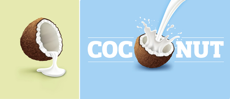 coconut milk splash Stock fotó - 93076747