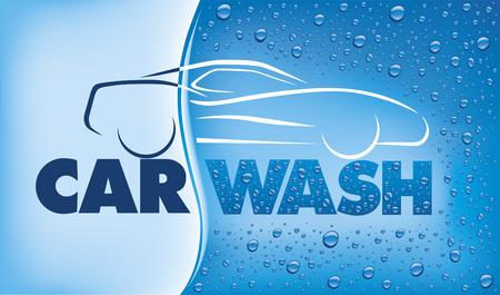 Car wash concept Stock Illustratie