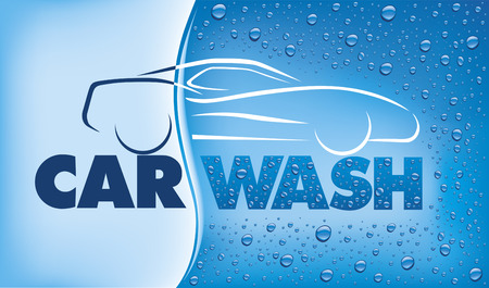 Car wash concept Vectores