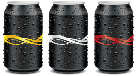 Template design with waves for Aluminum Tin Cans Ilustracja