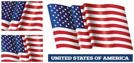 Illustration of the USA national flag