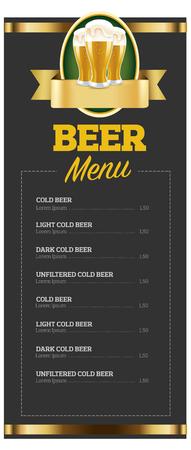 beer menu, blanket design for pub