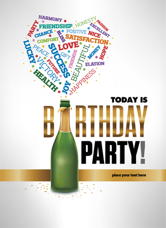 Template design for happy bithday party