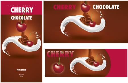 Chocolate packaging with cherry