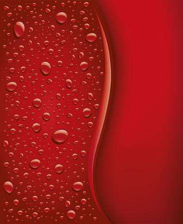 Dark red bubbles droplets background illustration.