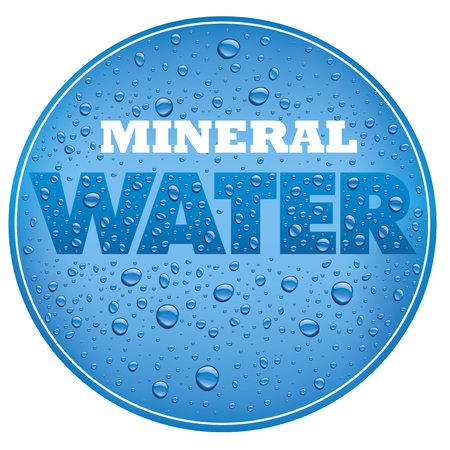 mineral water design with fresh water drops Ilustracja