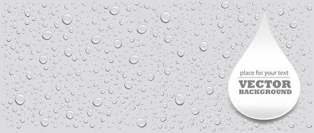 water drops on grey background and place for your text Ilustracja