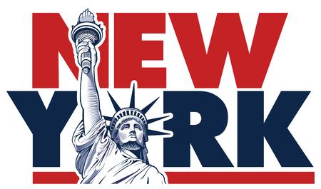 Statue of Liberty,New York City,  USA symbol  イラスト・ベクター素材