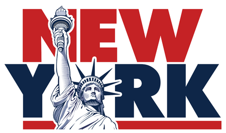 Statue of Liberty,New York City,  USA symbol Illustration